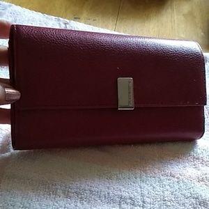 Liz Claiborne Dark Red Wallet